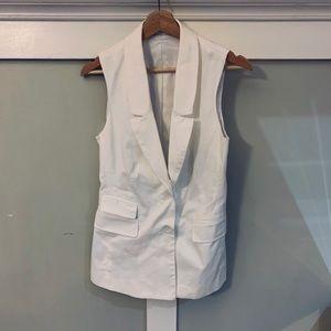White structured Club Monaco vest